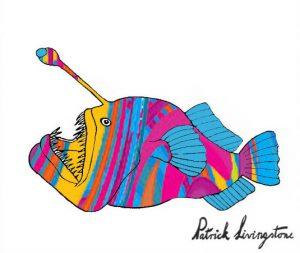 Anglerfish drawing colored 1