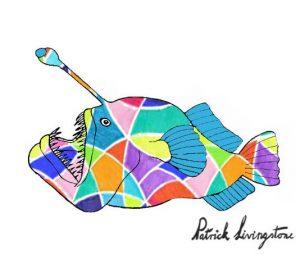 Anglerfish drawing colored 15