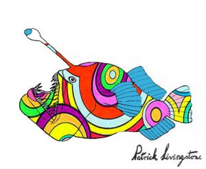 Anglerfish drawing colored 16