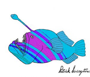 Anglerfish drawing colored 18
