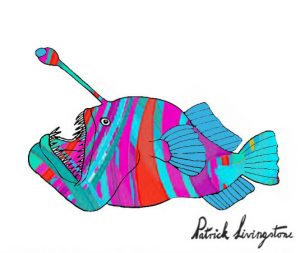 Anglerfish drawing colored 2