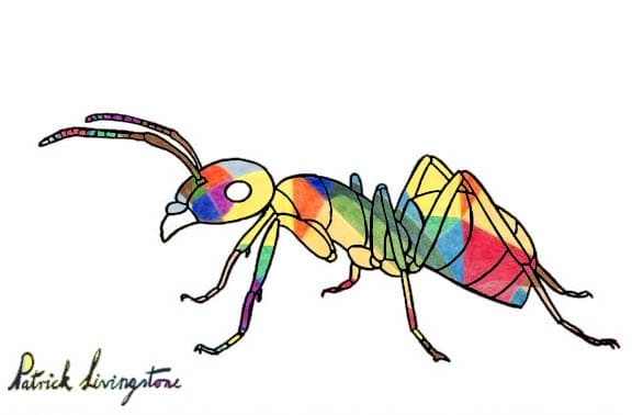 Ant drawing colored Klee