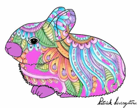 Baby Rabbit drawing colored