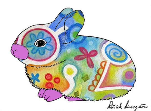 Baby Rabbit drawing colored i