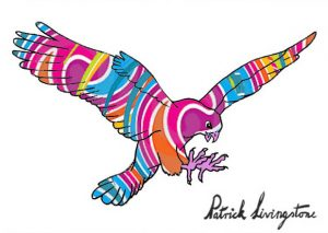Hawk Attacking drawing colored 5