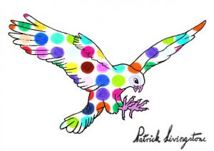 Hawk Attacking drawing colored 6