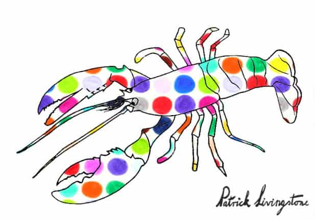 Lobster drawing colored g