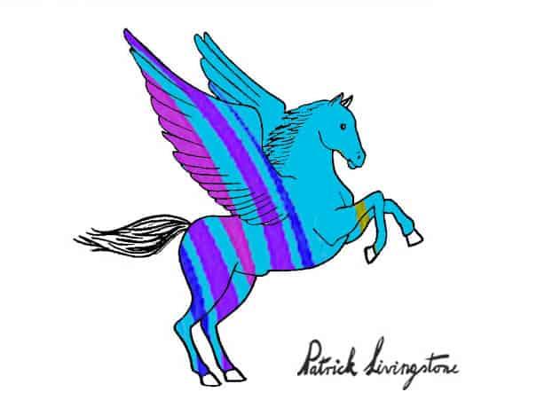 Pegasus drawing colored 1