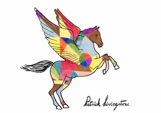 Pegasus drawing colored 10