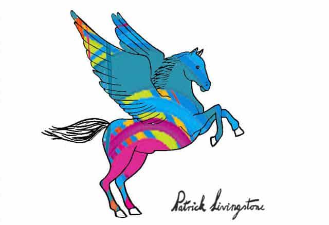 Pegasus drawing colored 2