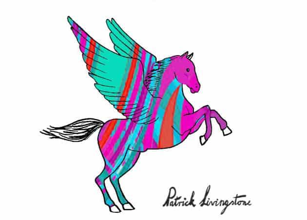 Pegasus drawing colored 3