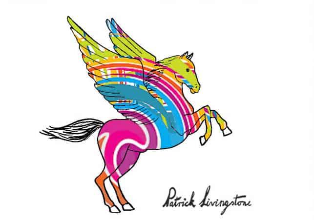 Pegasus drawing colored 4
