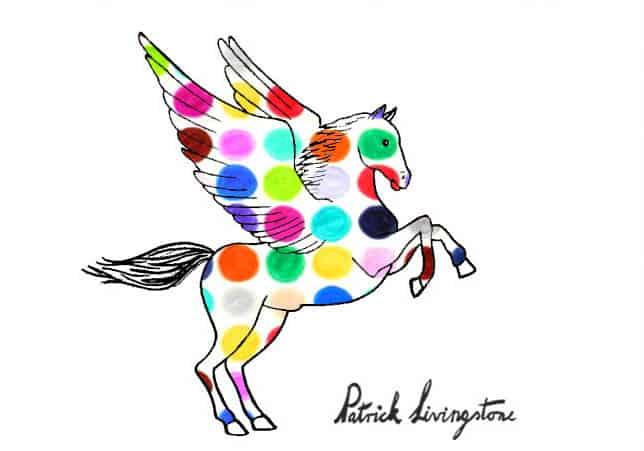 Pegasus drawing colored 5