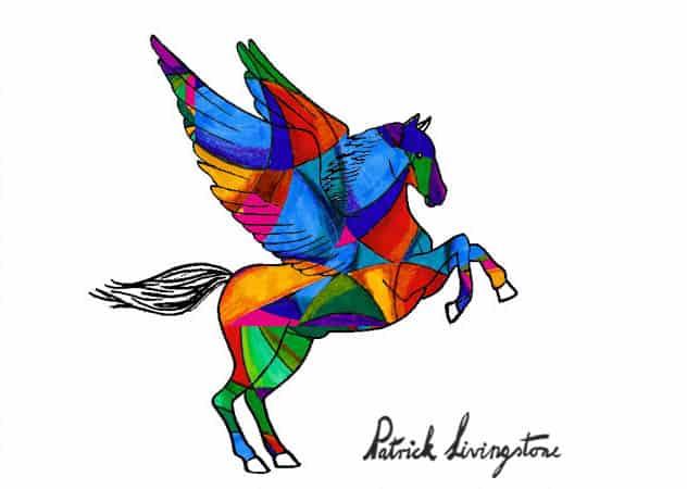 Pegasus drawing colored 6