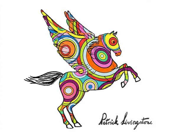 Pegasus drawing colored 7