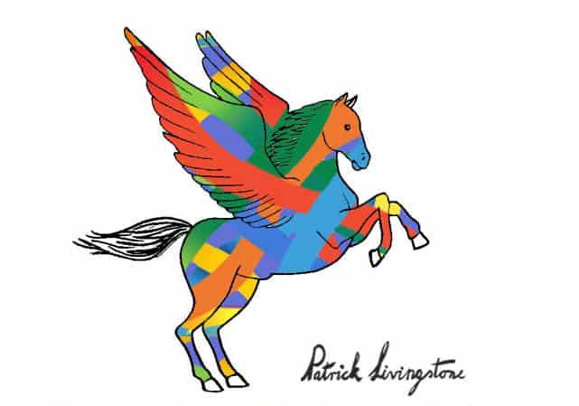 Pegasus drawing colored 8
