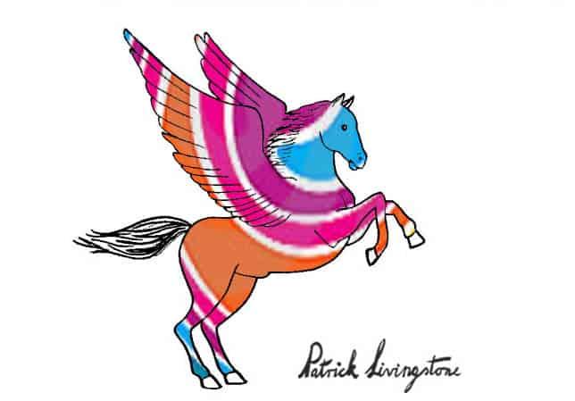 Pegasus drawing colored 9