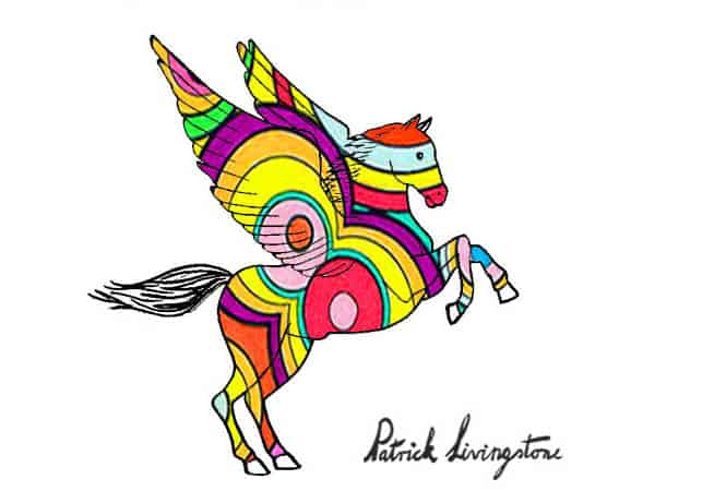 Pegasus drawing colored c