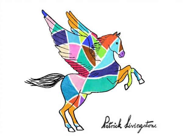 Pegasus drawing colored d