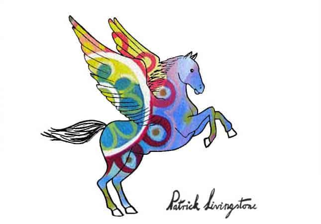 Pegasus drawing colored g