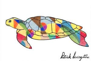 Turtle drawing colored Klee