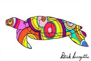 Turtle drawing colored big circles