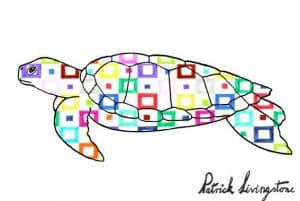 Turtle drawing colored squares