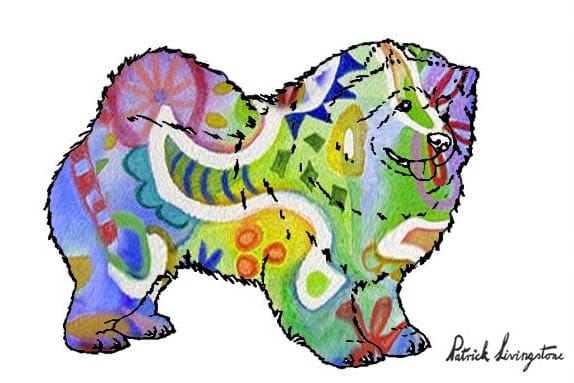 chow chow drawing colored miro